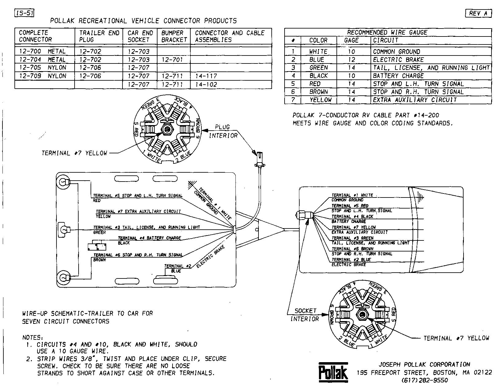 7 wire rv plug, Wiring diagram